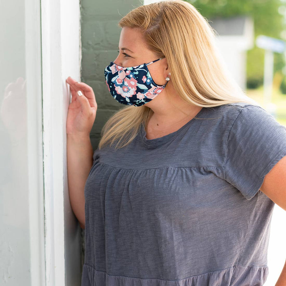 Floral Adjustable Face Mask - Adult
