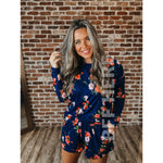 MJ Pajama Set -- Navy Floral