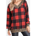 Hailey Multi Print Sweater -- Red