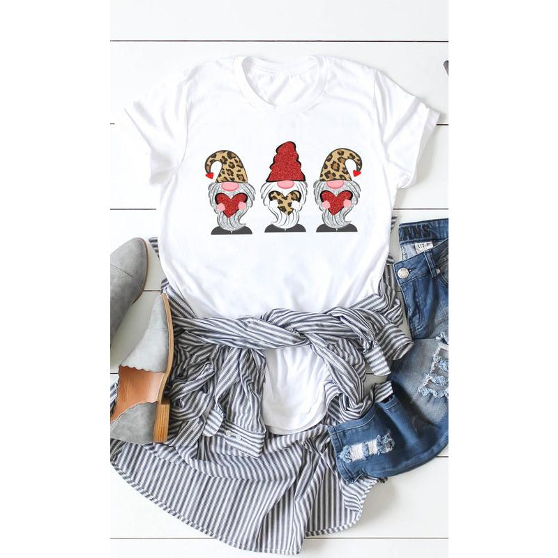 Leopard Loving Gnomes  Graphic Tee