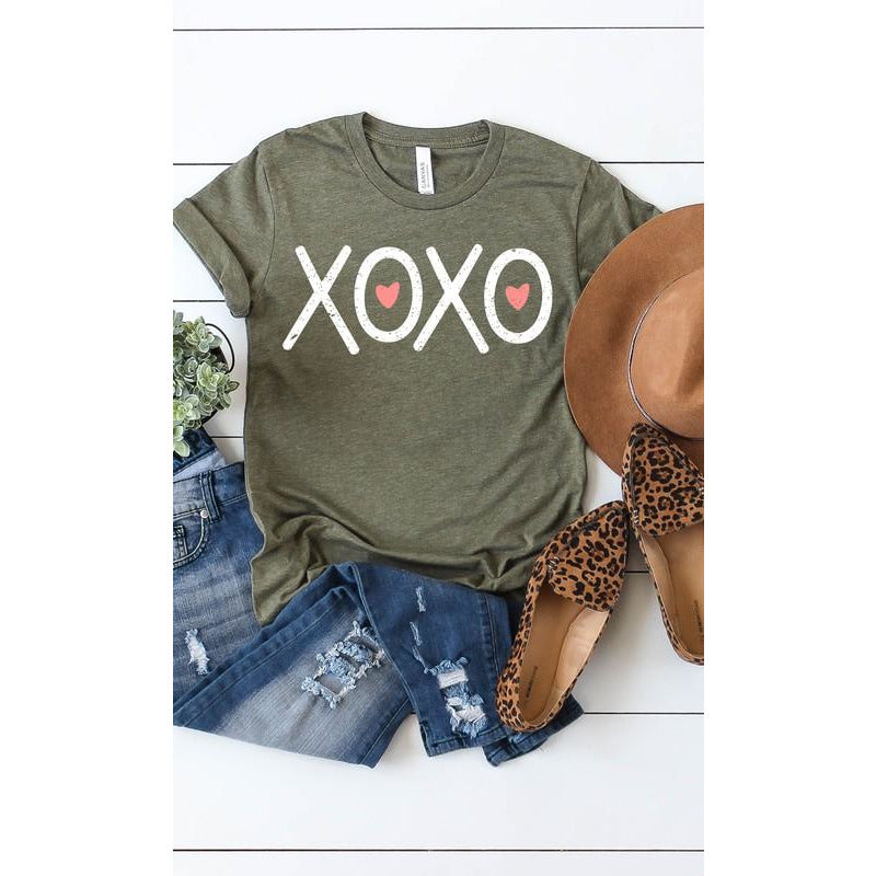 XOXO and Hearts Graphic Tee