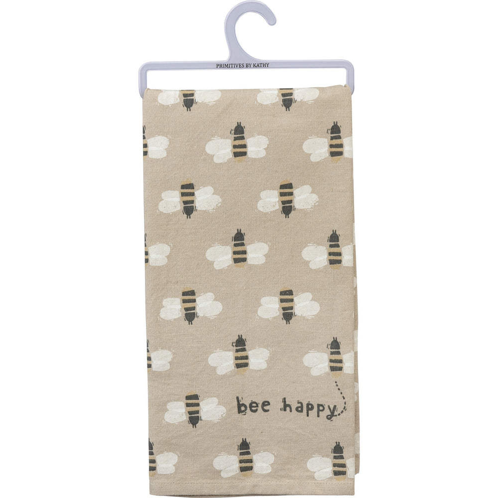 Bee Happy Kitchen Towel by PBK