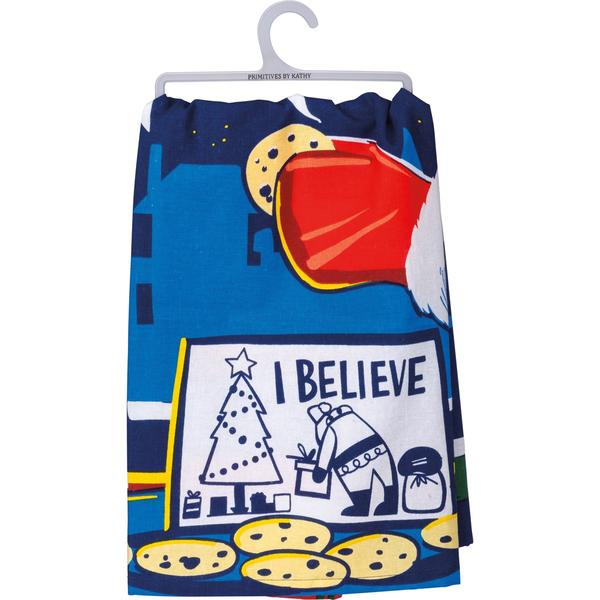 'I Believe' Santa Kitchen Towel by PBK