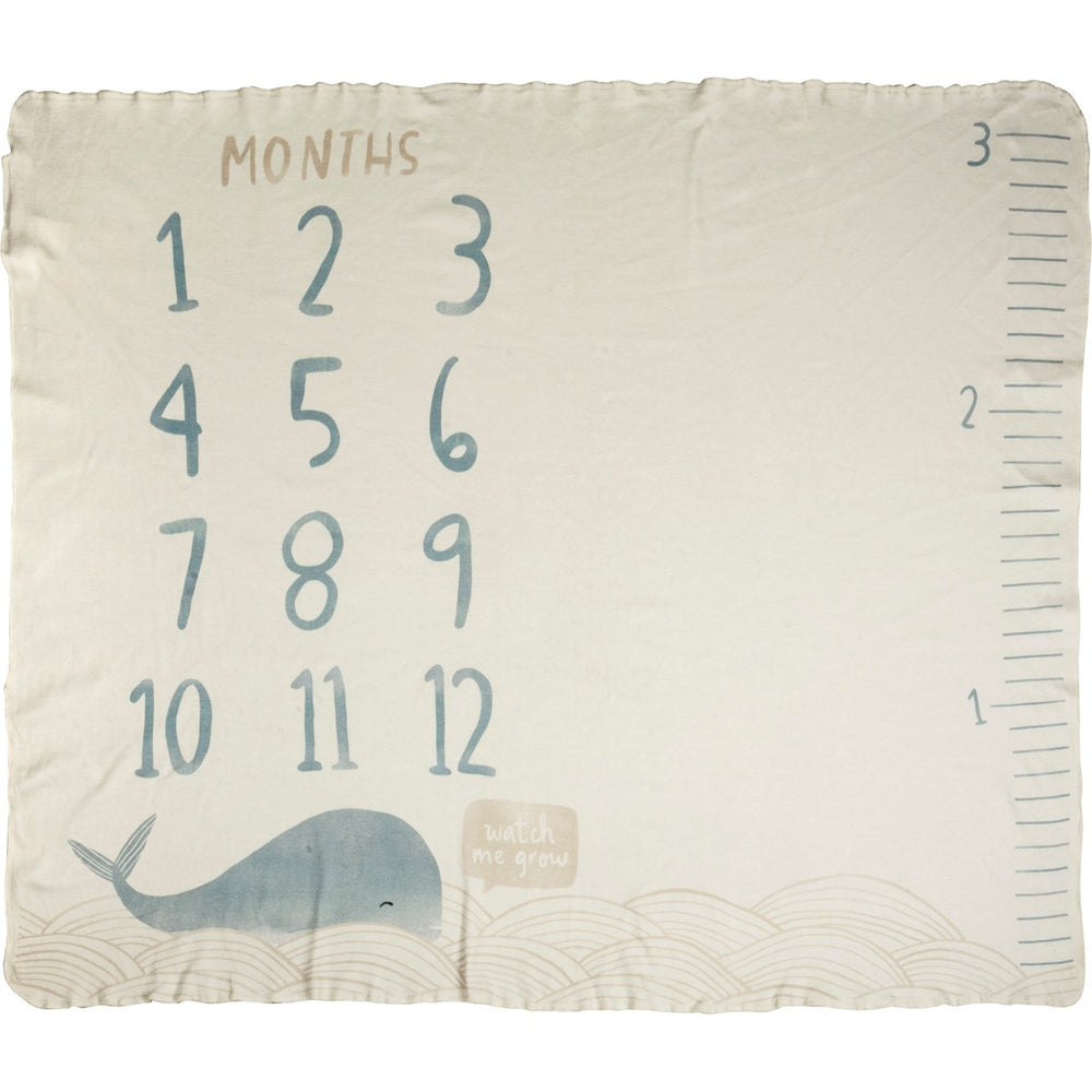 Milestone Blankets by PBK -- Blue Whale