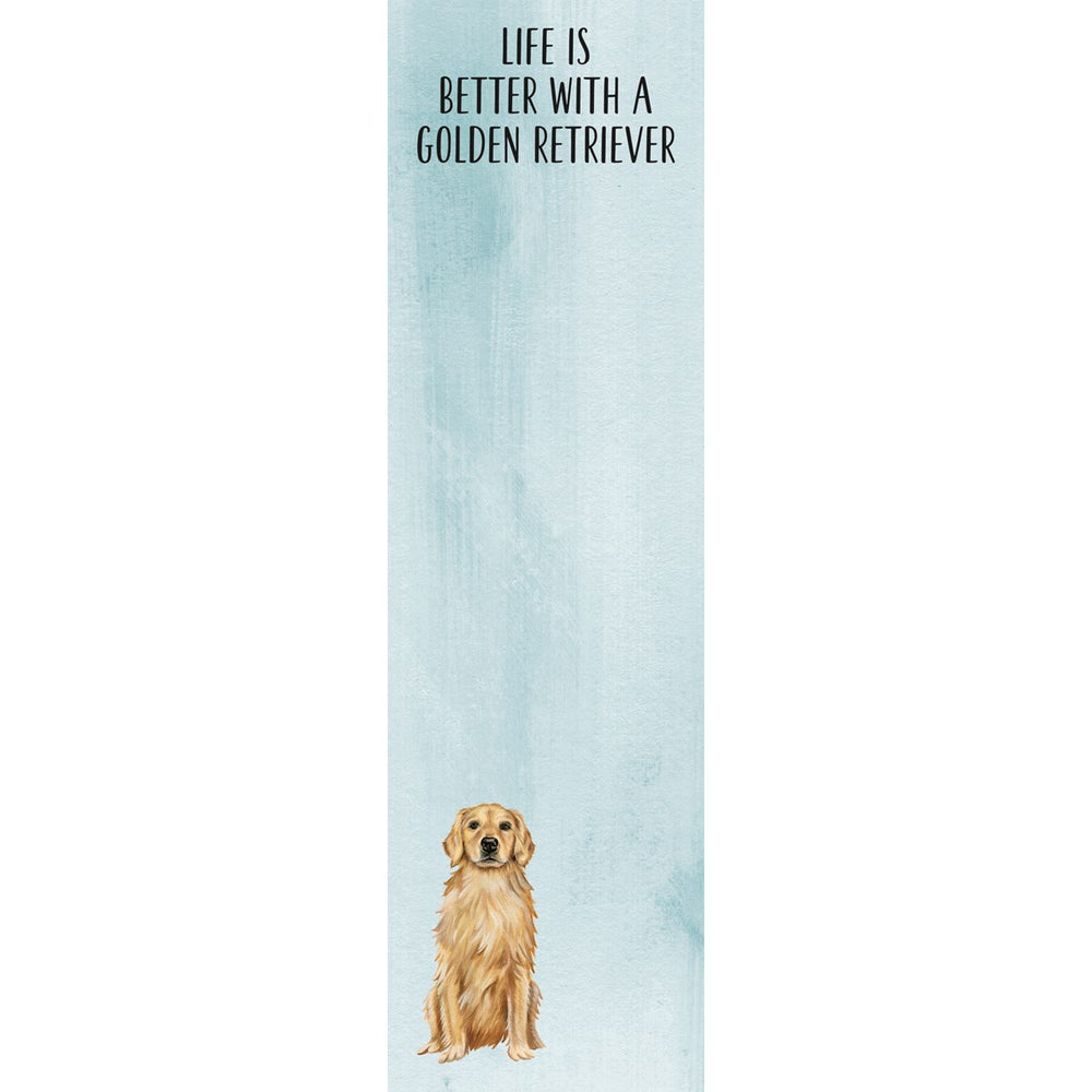 """Life Is Better With A Golden Retriever"" Notepad by PBK"