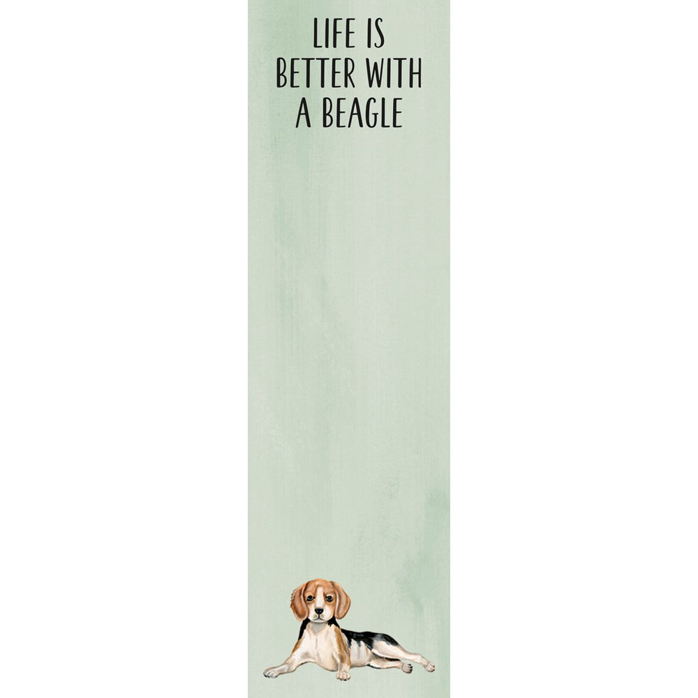 """Life Is Better With A Beagle"" Notepad by PBK"