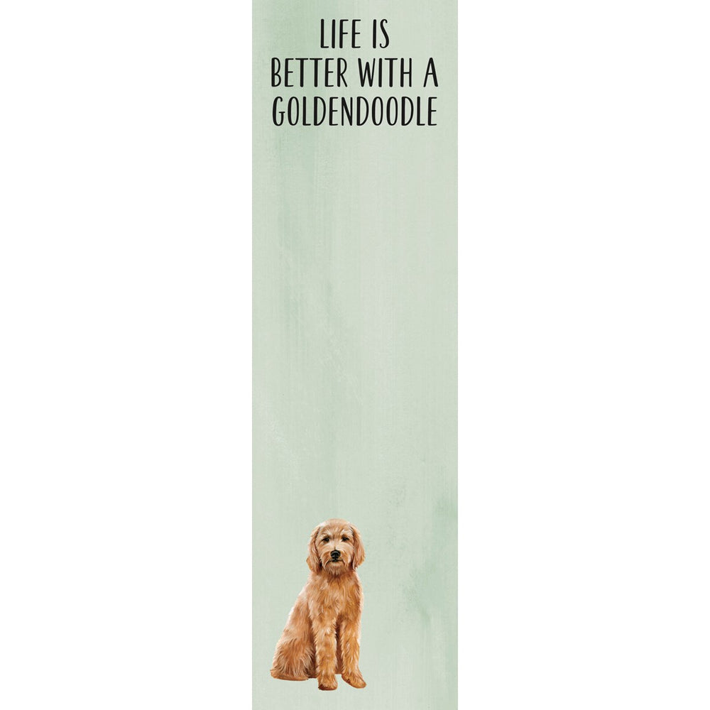 """Life Is Better With A Goldendoodle"" Notepad by PBK"