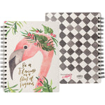 Be A Flamingo -- Spiral Notebook by PBK