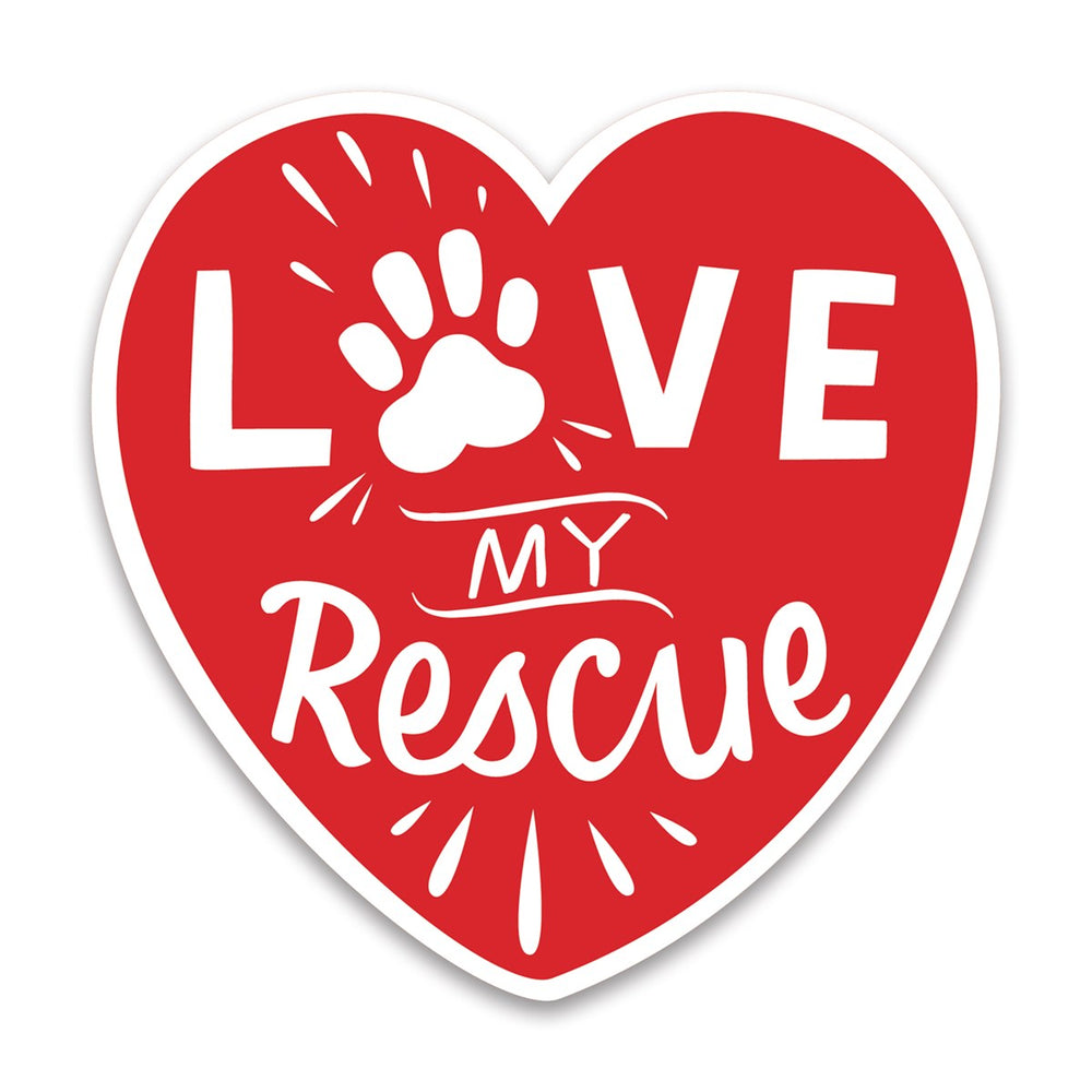 Love My Rescue -- Car Magnet by PBK