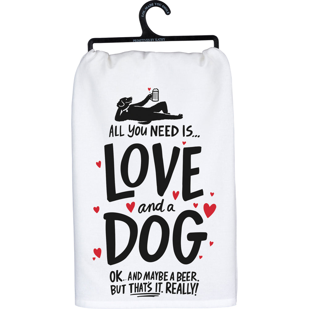 Dog & A Beer Kitchen Towel by PBK