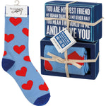 My Best Friend I Love You Box Sign & Sock Set by PBK