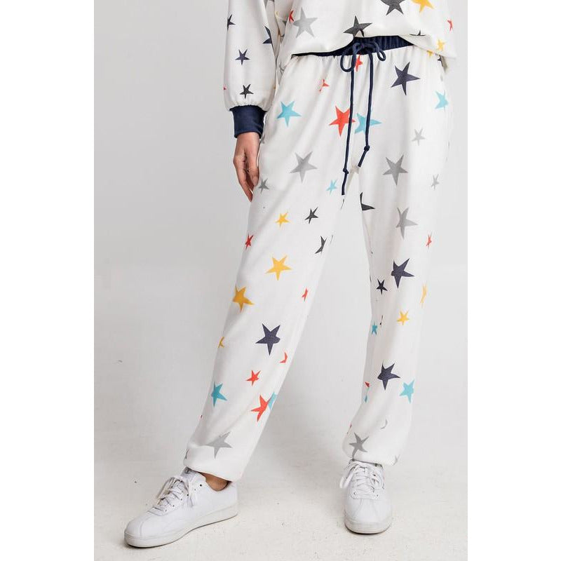 Multicolor Star Lounge Pants