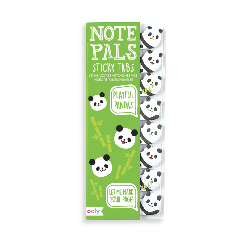Note Pals Sticky Tabs -- Playful Pandas
