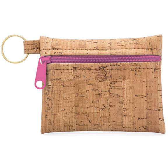 Be Organized Cork Key Chain  --  Choice of Color: