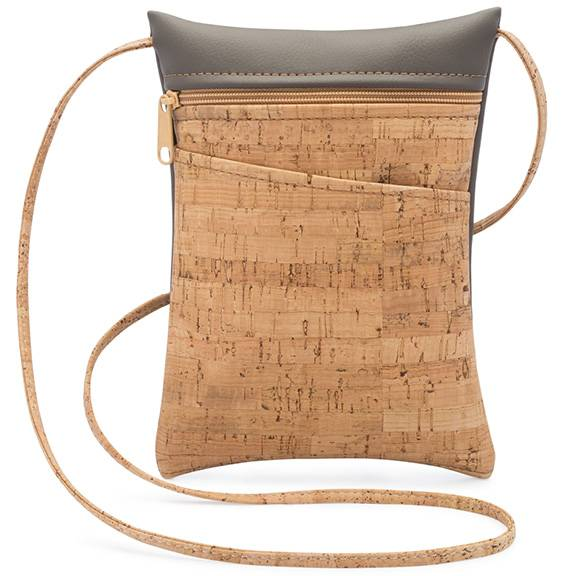 Be Lively Mini Cross Body Bag: Rustic Cork + Faux Leather
