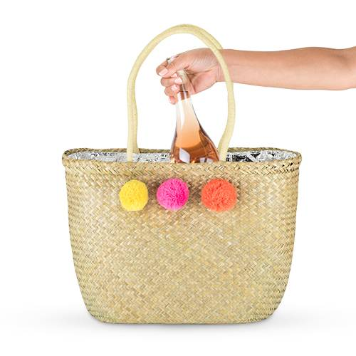 Pom Pom Insulated Cooler Tote