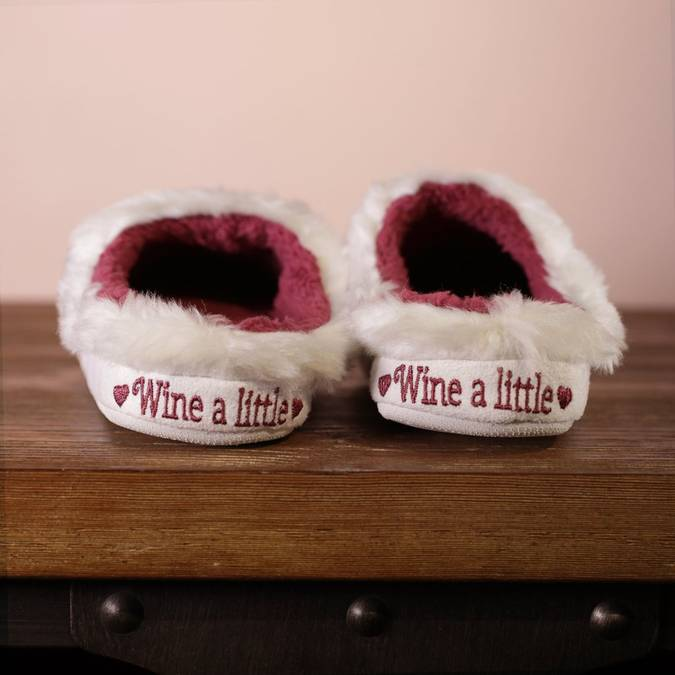 Wine a Little - Classic Slippers  -- Choice of Size - BFF Here