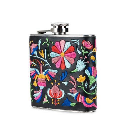 Embroidered Flask - BFF Here