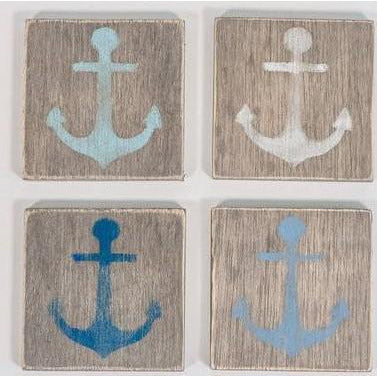 "4"" x 4"" Anchor Coasters - Set of 4"