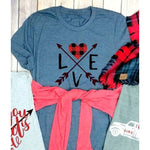 Two Arrows Love Graphic Tee