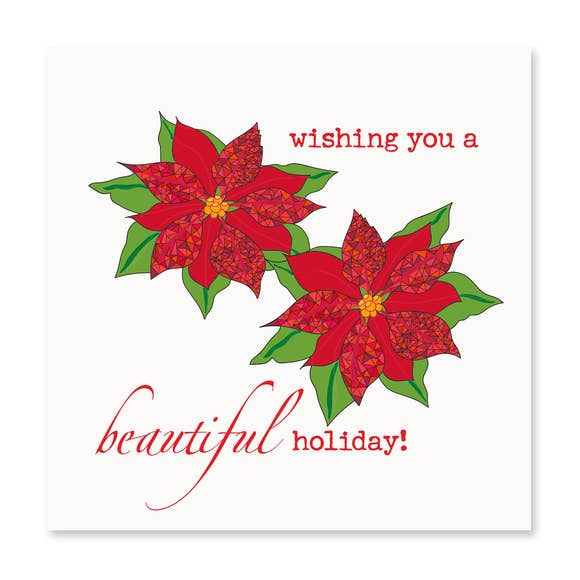 Holiday Poinsettia Card