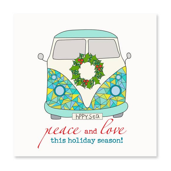 Holiday VW Van Card