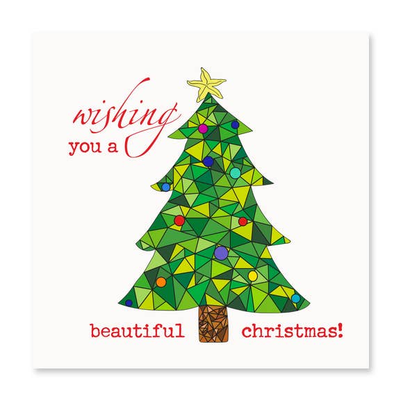 Holiday Christmas Tree Card