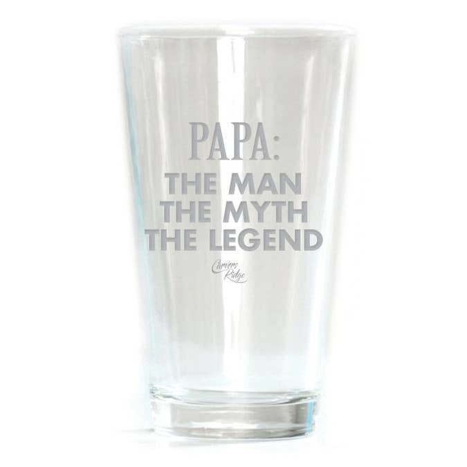 Papa: Man Myth Legend -- Pub Glass