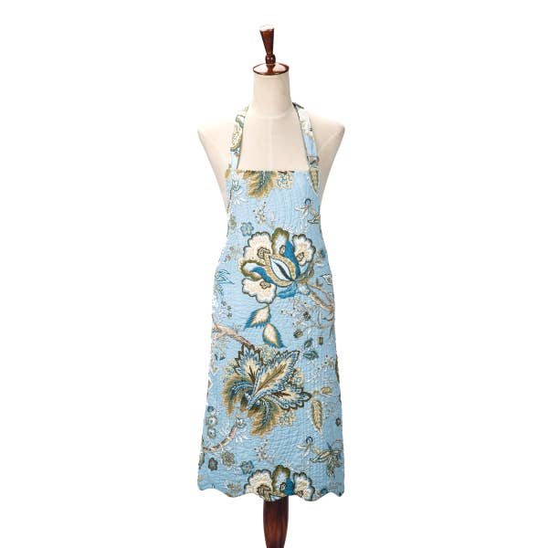 Bethany Blue Quilted Adult Apron