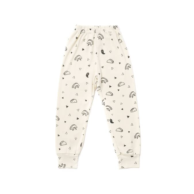Taco Print Zip Bubble Pants