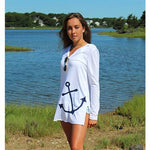 Women's Bristol Beach Cover-up: Anchor -- Choice of Size