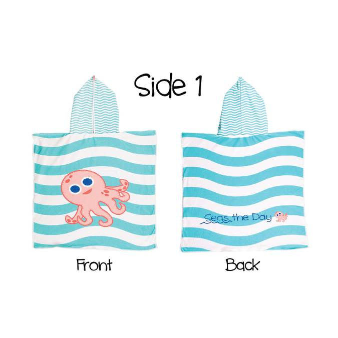 Reversible Kids' Cover Ups - Pink Octopus / Sea Turtle - BFF Here