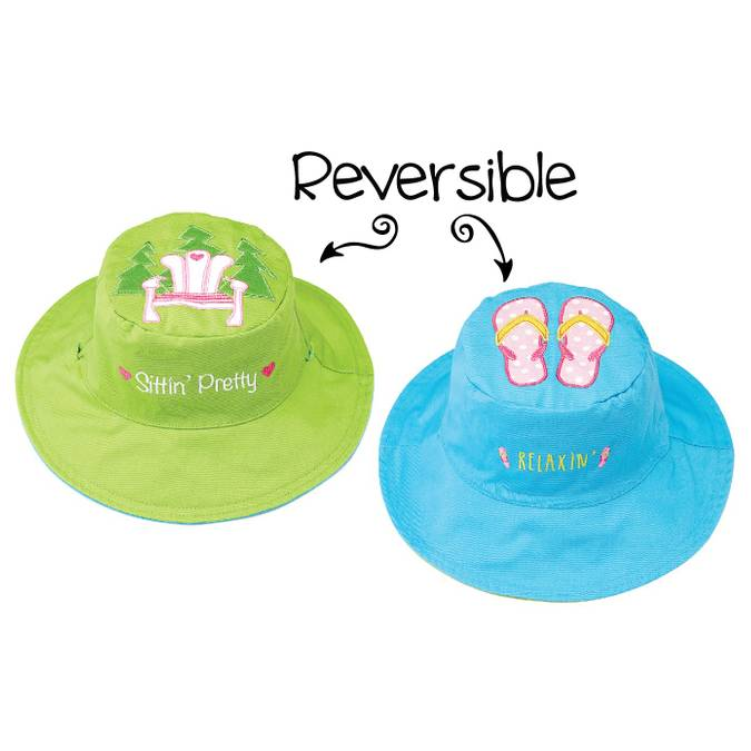 Reversible Kids' Sun Hat - Muskoka Chair / Flip Flops