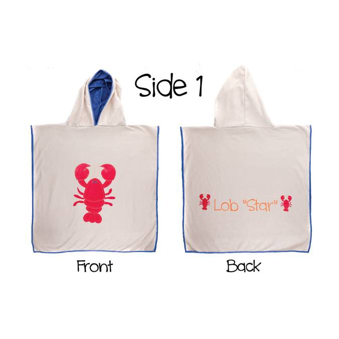 Reversible Kids' Cover Ups - Lobster / Whale