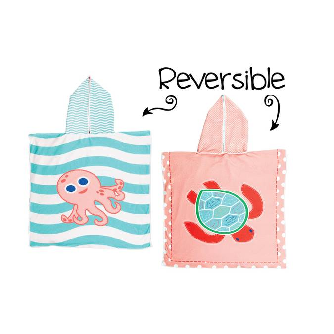 Reversible Kids' Cover Ups - Pink Octopus / Sea Turtle