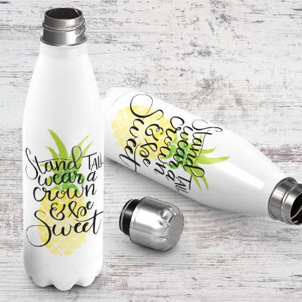 Stand Tall Wear a Crown Be Sweet Stainless Bottle