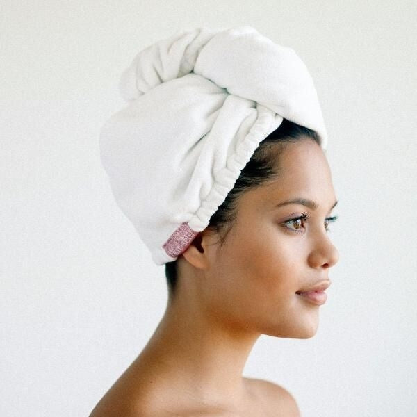 Microfiber Hair Towel - White