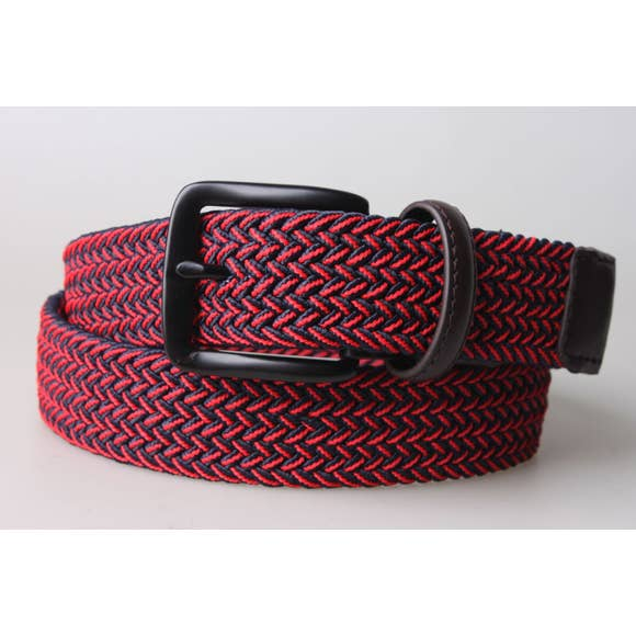 Mens Stretch Woven Belt -- Choice of Size & Color