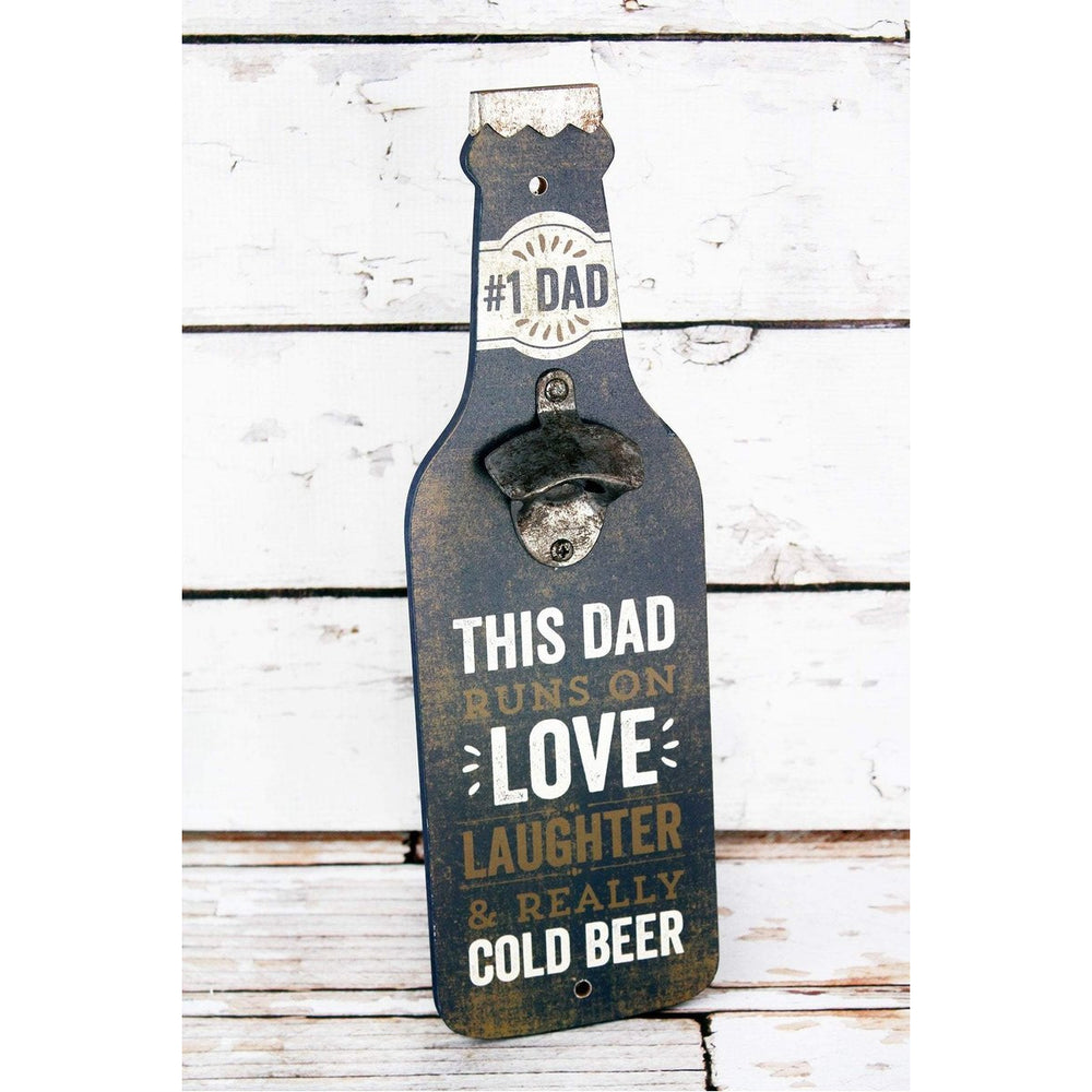 'This Dad' Wood Bottle Opener Wall Sign