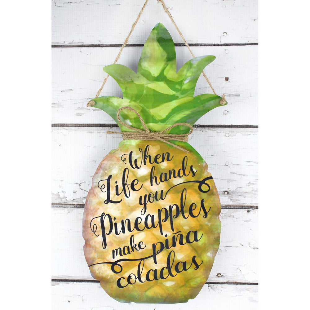 'Pina Coladas' Tin Pineapple Sign