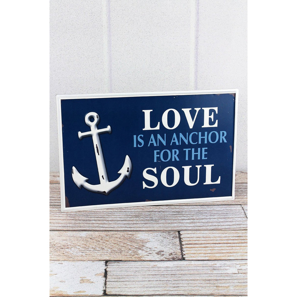 'Love Is An Anchor For The Soul' Tin Sign