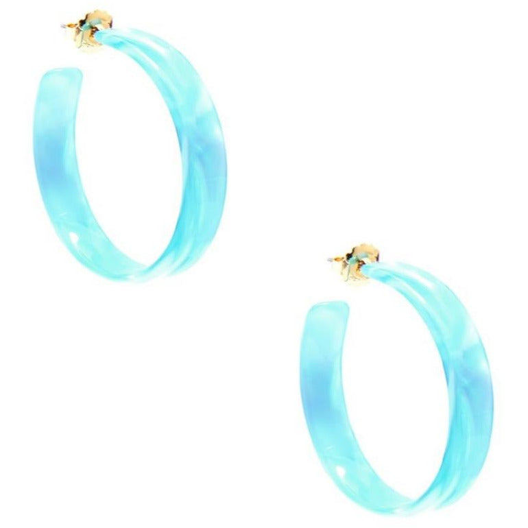 Acetate Hoop Earring-- Choice of Color