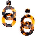 Acetate Chain Drop Earring-- Choice of Color