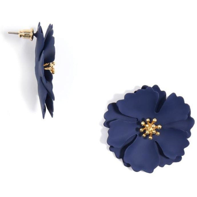 Camellia Flower Earring-- Choice of Color