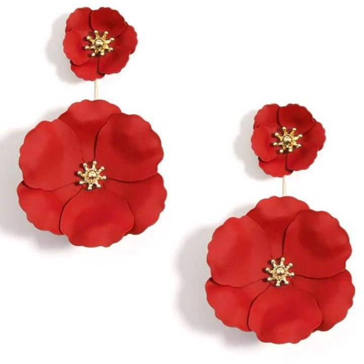 Flower Power Earring-- Choice of Color