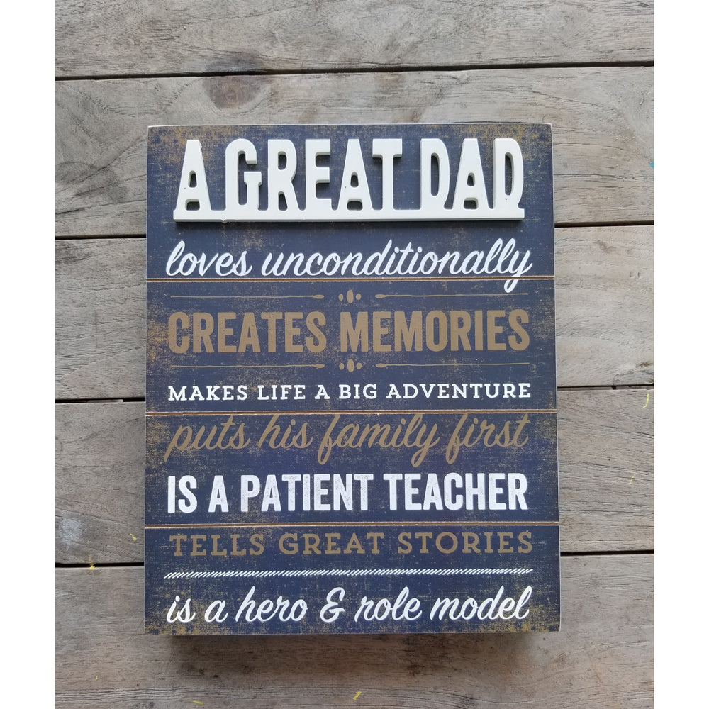 A Great Dad Wood Box Sign