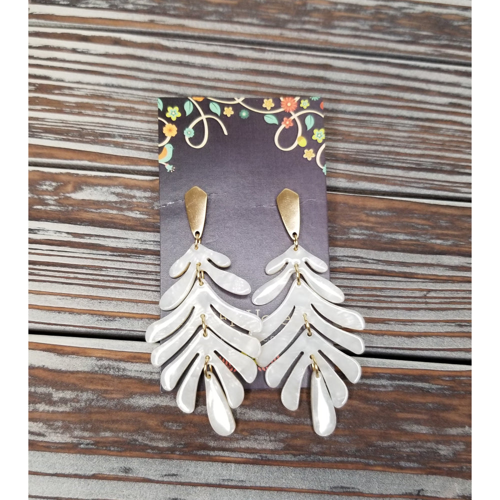 Leaf Dangle Earrings -- Choice of Color