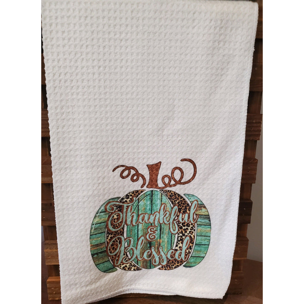 Thankful & Blessed Kitchen Towel