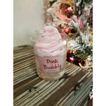 Pink Bubbly Piped Glass Candle by Bomb Cosmetics