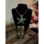 Starfish Abalone Pendant & Earring Set